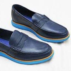 Men's Blue Lunar Grand Penny Loafers